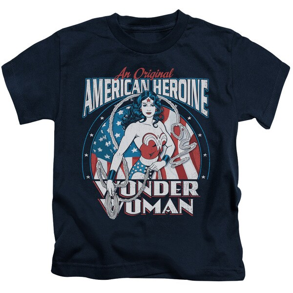 DC/American Heroine Short Sleeve Juvenile Graphic T-Shirt in Navy
