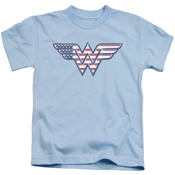 DC/Red,White & Blue Short Sleeve Juvenile Graphic T-Shirt in Light Blue