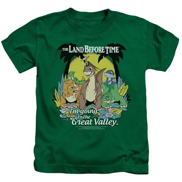 Land Before Time/Great Valley Short Sleeve Juvenile Graphic T-Shirt in Kelly Green
