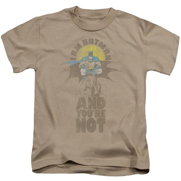 DC/And You're Not Short Sleeve Juvenile Graphic T-Shirt in Sand