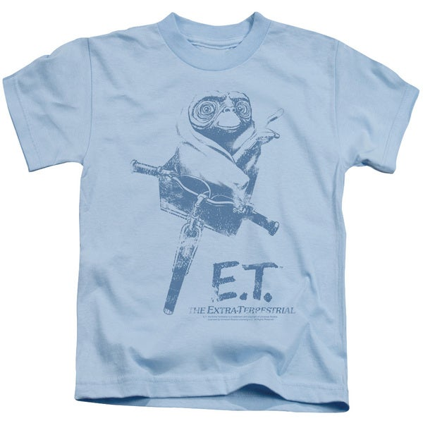 ET/Bike Short Sleeve Juvenile Graphic T-Shirt in Light Blue
