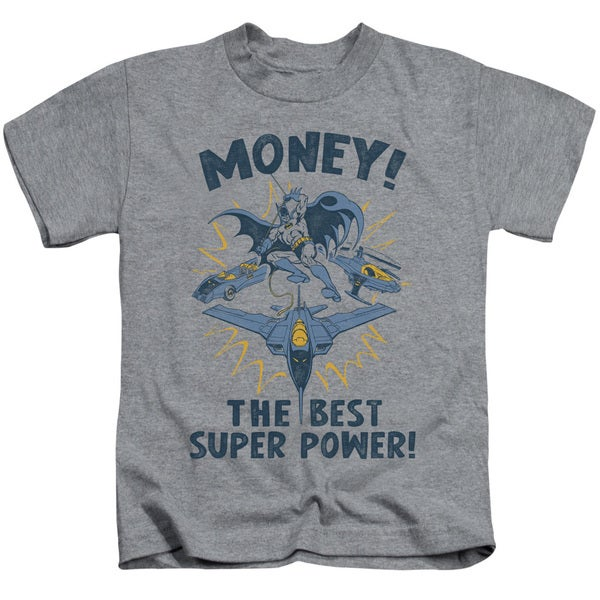 DC/Money Short Sleeve Juvenile Graphic T-Shirt in Heather