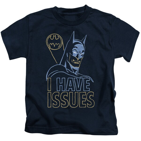 DC/Issues Short Sleeve Juvenile Graphic T-Shirt in Navy