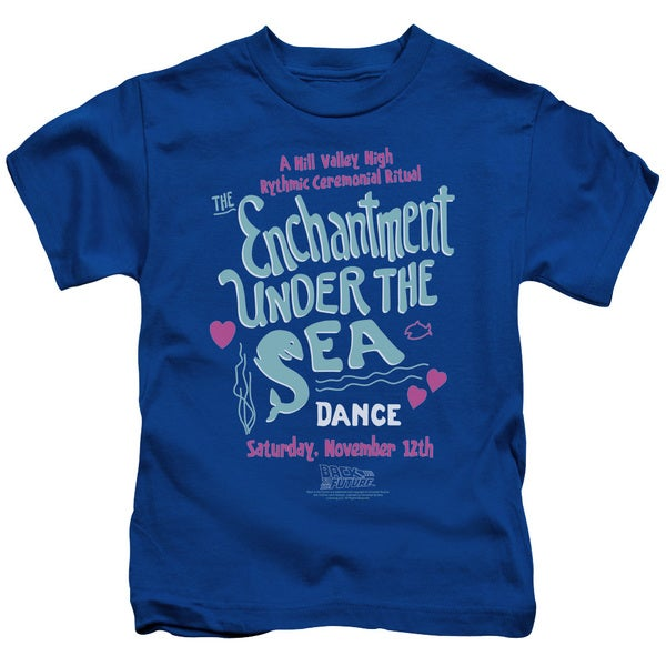 Back To The Future/Under The Sea Short Sleeve Juvenile Graphic T-Shirt in Royal