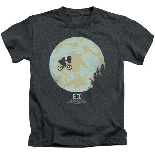 ET/In The Moon Short Sleeve Juvenile Graphic T-Shirt in Charcoal