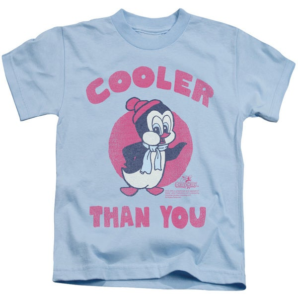 Chilly Willy/Cooler Than You Short Sleeve Juvenile Graphic T-Shirt in Light Blue