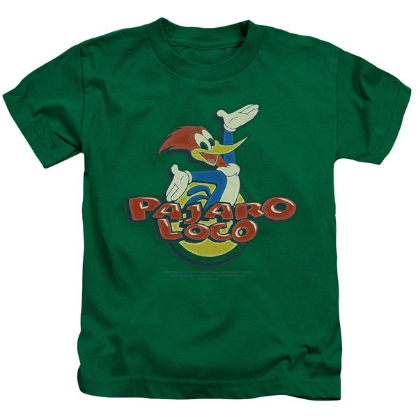 Woody Woodpecker/Loco Short Sleeve Juvenile Graphic T-Shirt in Kelly Green