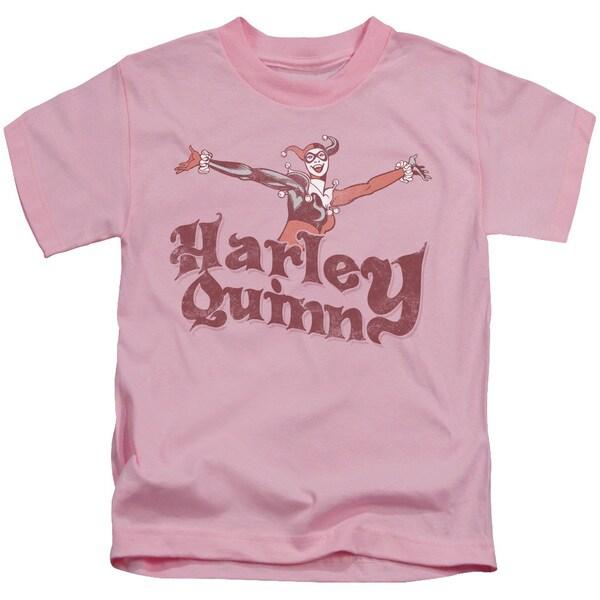 DC/Harley Hop Vintage Short Sleeve Juvenile Graphic T-Shirt in Pink