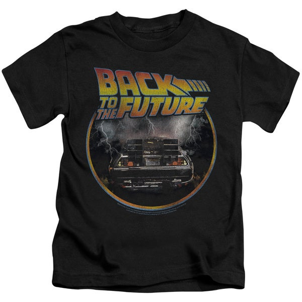 Back To The Future/Back Short Sleeve Juvenile Graphic T-Shirt in Black