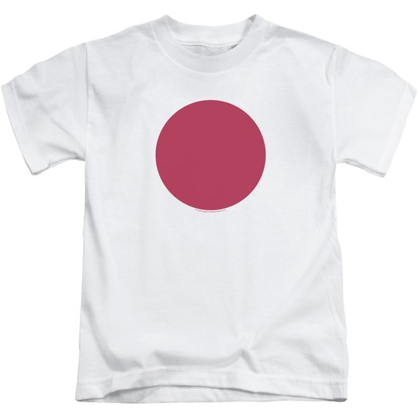 Bloodshot/Spot Short Sleeve Juvenile Graphic T-Shirt in White