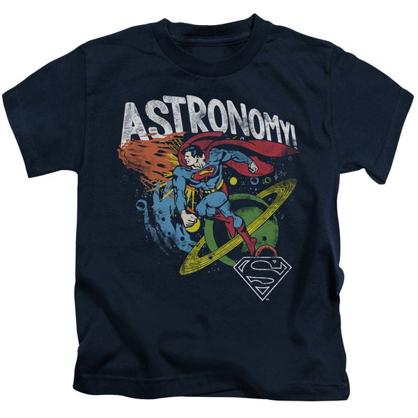 DC/Astronomy Short Sleeve Juvenile Graphic T-Shirt in Navy