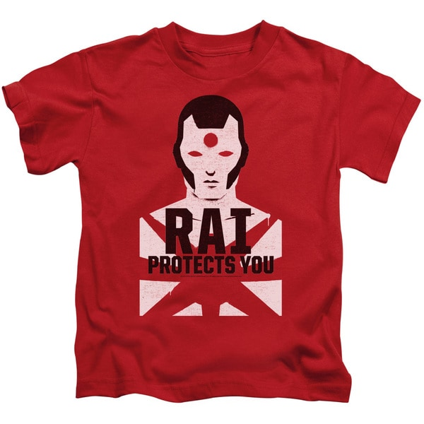 Rai/Protector Short Sleeve Juvenile Graphic T-Shirt in Red