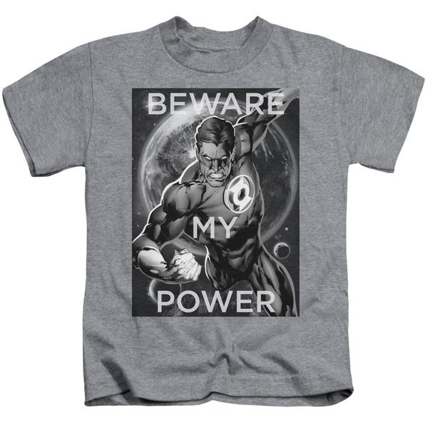 DC/Power Short Sleeve Juvenile Graphic T-Shirt in Heather