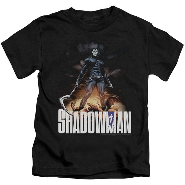 Shadowman/Shadow Victory Short Sleeve Juvenile Graphic T-Shirt in Black