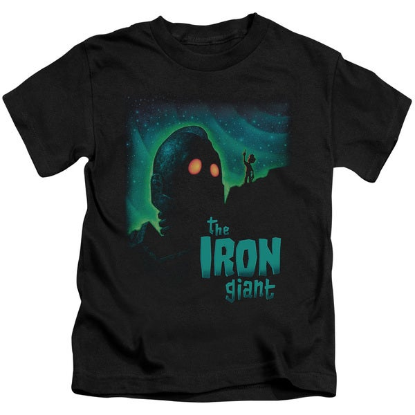 Iron Giant/Look To The Stars Short Sleeve Juvenile Graphic T-Shirt in Black