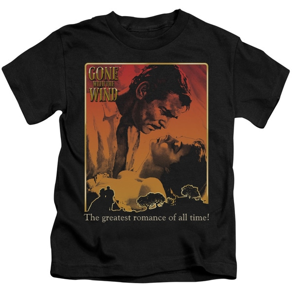 Gone With The Wind/Greatest Romance Short Sleeve Juvenile Graphic T-Shirt in Black