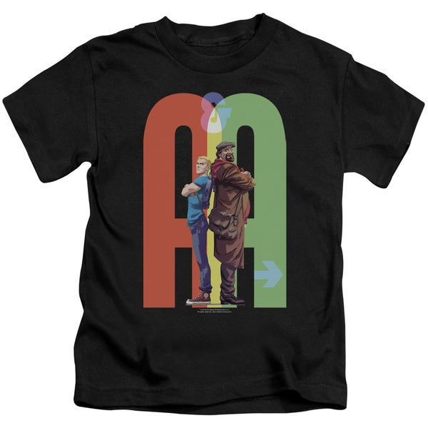 Archer & Armstrong/Back To Bak Short Sleeve Juvenile Graphic T-Shirt in Black