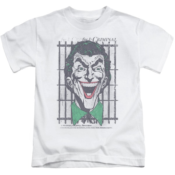 DC/Criminal Short Sleeve Juvenile Graphic T-Shirt in White