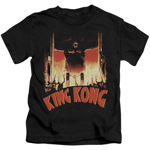 King Kong/At The Gates Short Sleeve Juvenile Graphic T-Shirt in Black