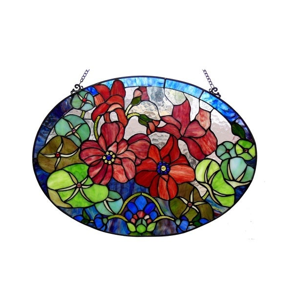 Chloe Tiffany Style Floral Design Window Panel