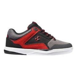 Boys' DVS Portal Skate Shoe Black/Grey/Red Leather