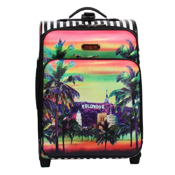 Nicole Lee Cleo Hollywood 21-inch Rolling Carry On Fasion Suitcase