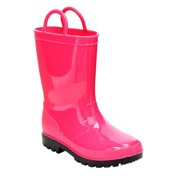 Jelly Beans GE87 Girl's Pull-On Handled Lug Sole Mid-calf Rain Boots 20764058