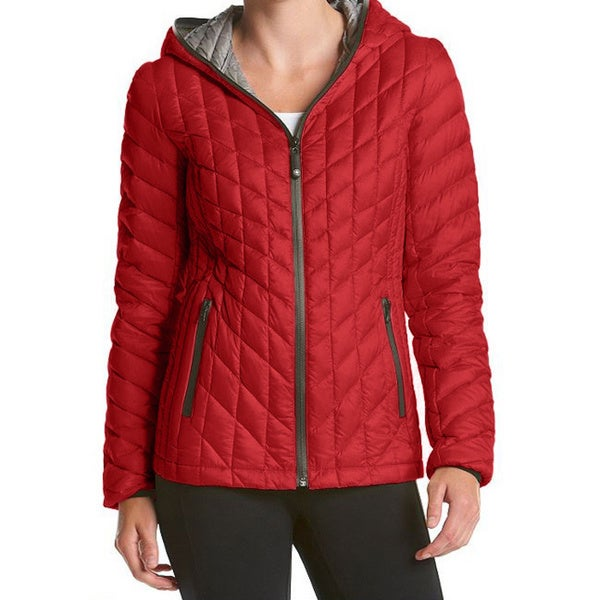 Halifax Red Down Hooded Packable Plus-size Coat