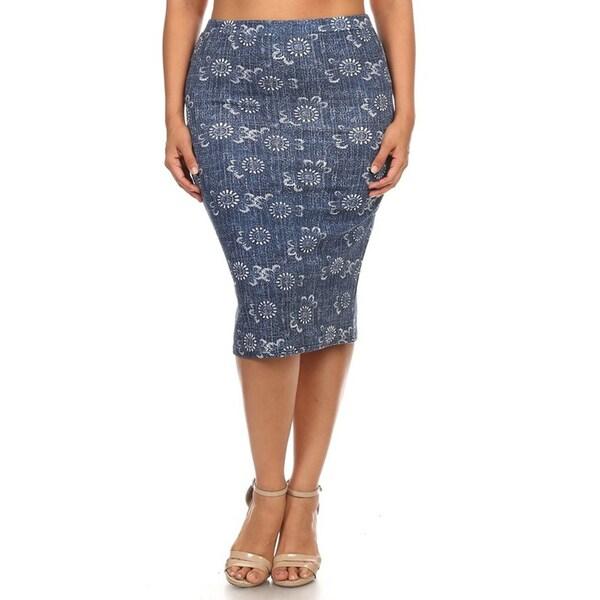 Plus Size Women's Pencil Skirt