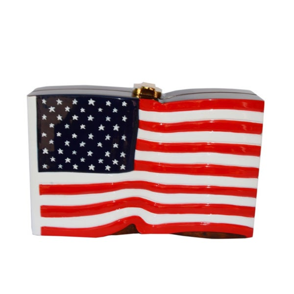 Timmy Woods American Flag Limited Edition Wooden Handbag