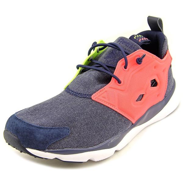 Reebok Women's Furylite Asymmetrical Blue Textile Basic Athletic Shoes