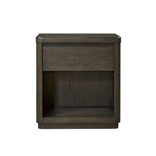 Roxbury Dark Grey 1-Drawer Nightstand