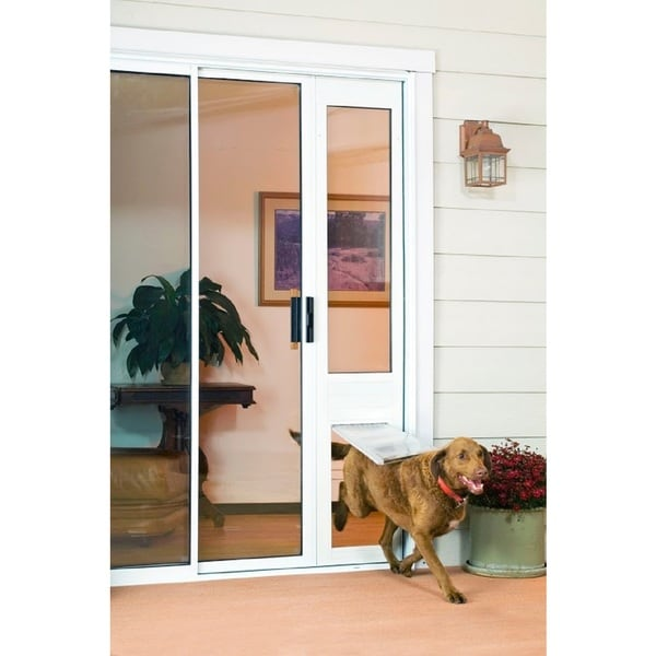 "Endura FlapThermo Panel Large Flap (10""w x 19""h) Pet Door for Sliding Glass Doors"