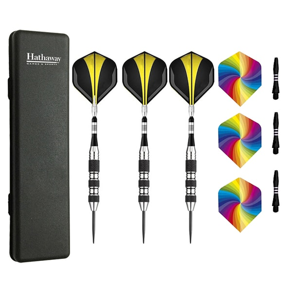 The Tempest Multicolored Steel/Nylon Tip Darts (Set of 3)