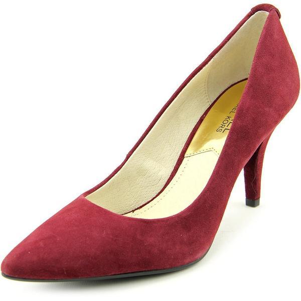 Michael Kors Women's Red Suede Mid-heel Dress Shoes