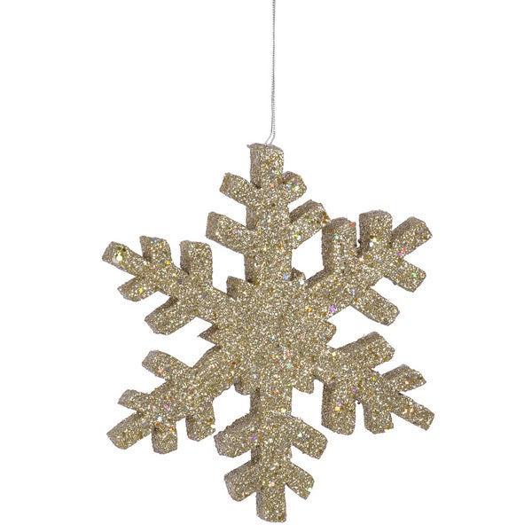 Champagne Glitter 24-ijnch Outdoor Snowflake Ornament