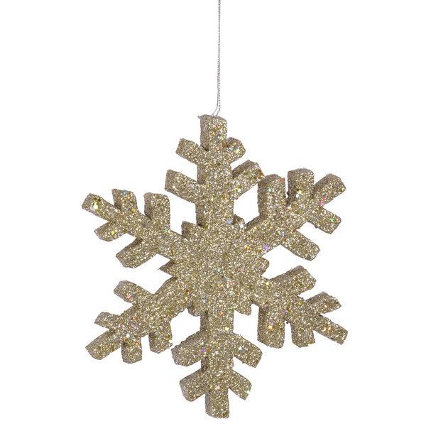 Champagne Glitter 24-ijnch Outdoor Snowflake Ornament