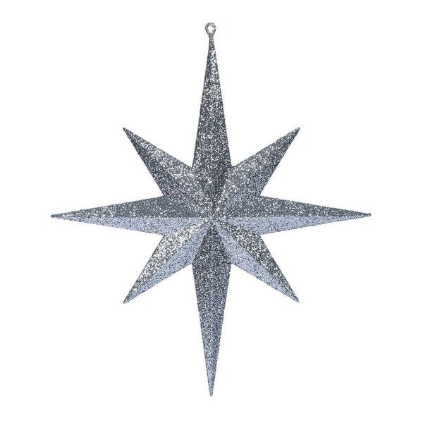 Pewter Glitter Bethlehem Star 15.75-inch Ornament