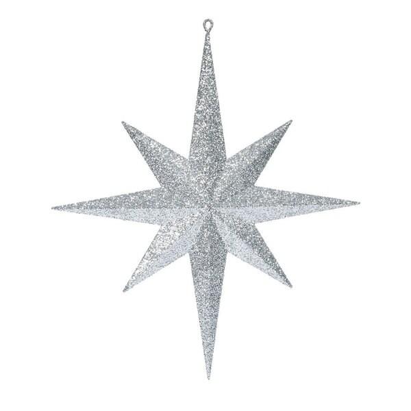 Silver 15.75-inch Glitter Bethlehem Star Ornament