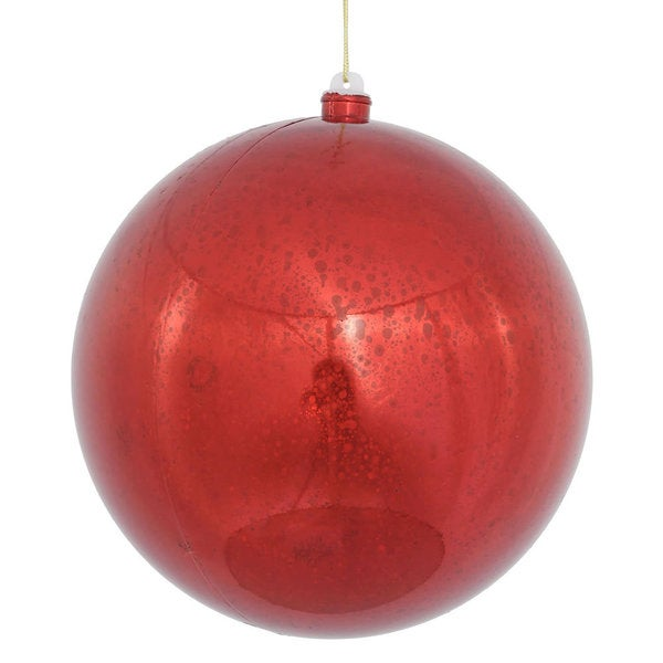Red 12-inch Shiny Mercury Ball Ornament