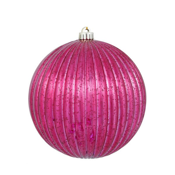 Wine 8-inch Mercury Pumpkin Ball Ornament