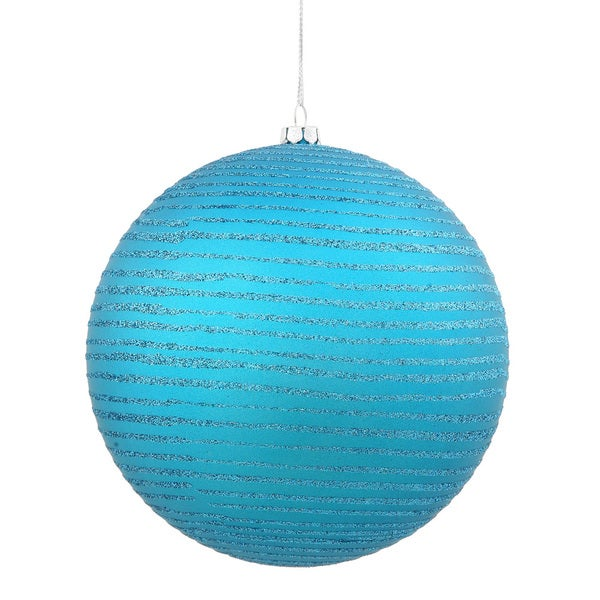 Teal 4-inch Matte-Glitter Ball Ornament (Pack of 4)