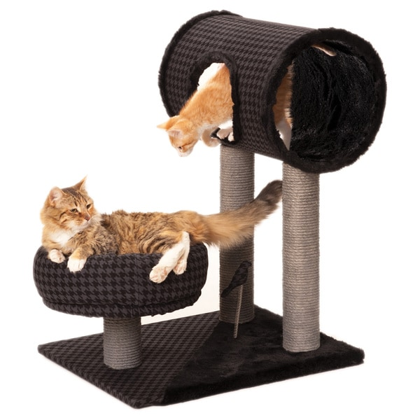 Max & Marlow 31-inch Cat Tree, Tunnel, Hut, and Lounger