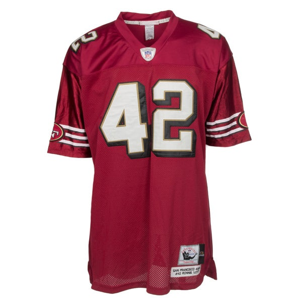 Ronnie Lott Jersey #42 NFL San Francisco 49ers Mitchell & Ness in Red