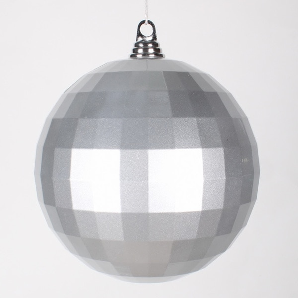 Silver Plastic 8-inch Candy Mirror Ball Ornament