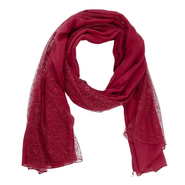 Saachi Burgundy Lace Scarf (China)