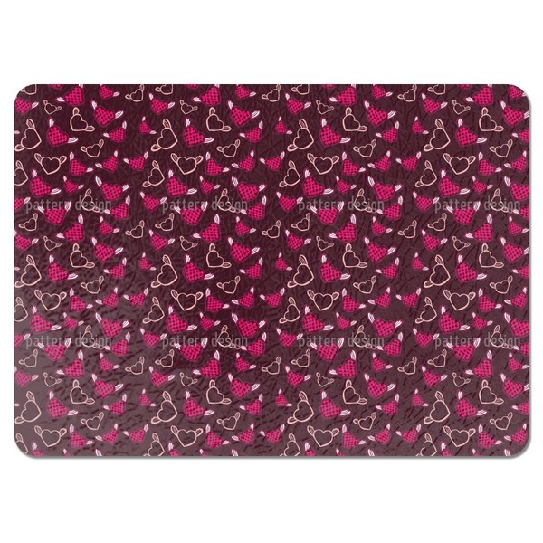 Sweet Fantasy Chess Heart Placemats (Set of 4) 20787251