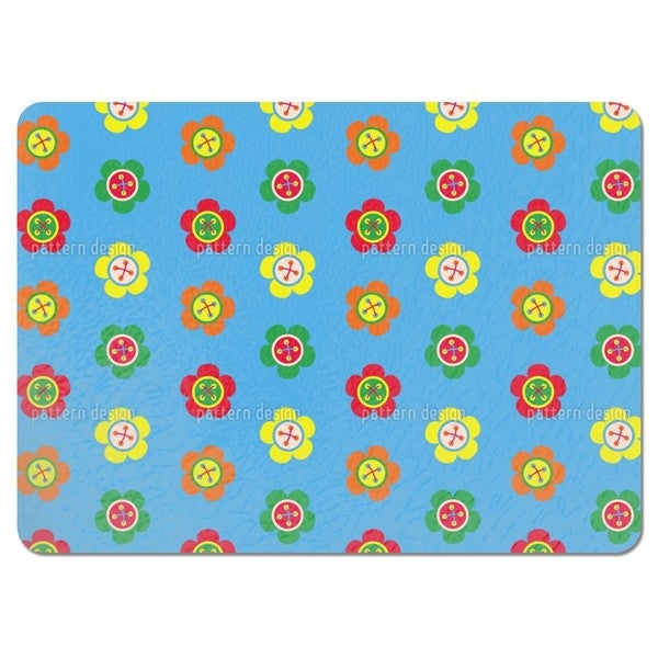 Flower Buttons Placemats (Set of 4)