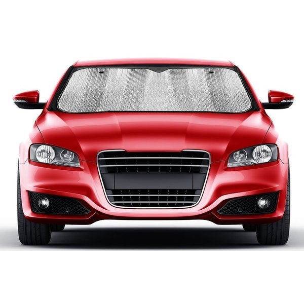 Silver-colored Nylon Jumbo Windshield Sunshade