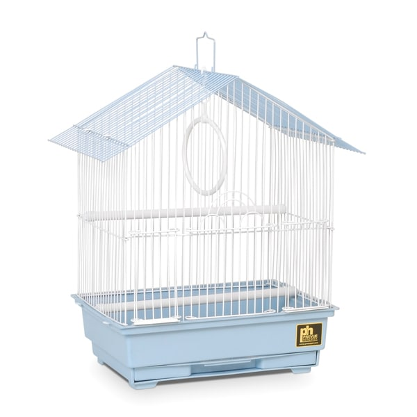 Prevue Pet Products White/Blue Tubular Steel House-style Economy Bird Cage
